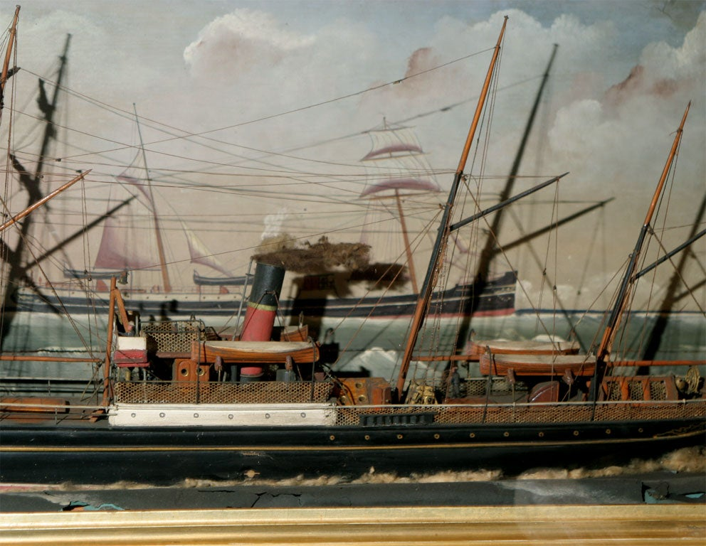 Ship Shadow Box Diorama For Sale 3