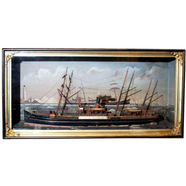 Ship Shadow Box Diorama For Sale 4