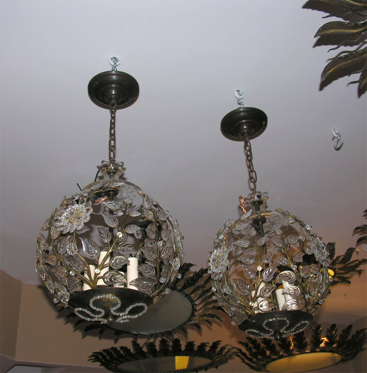 Pair Of Bagues Light Fixtures At 1stdibs