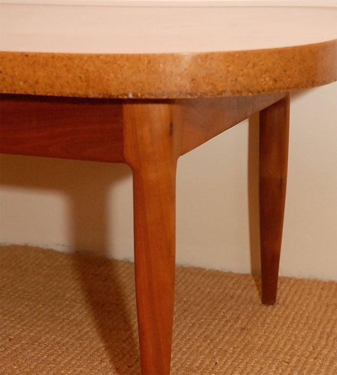 Yin And Yang Mid Century Modern Round Walnut Swedish: Walnut And Resin Coffee Table At 1stdibs