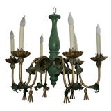 Wood and Gilt Metal Chandelier