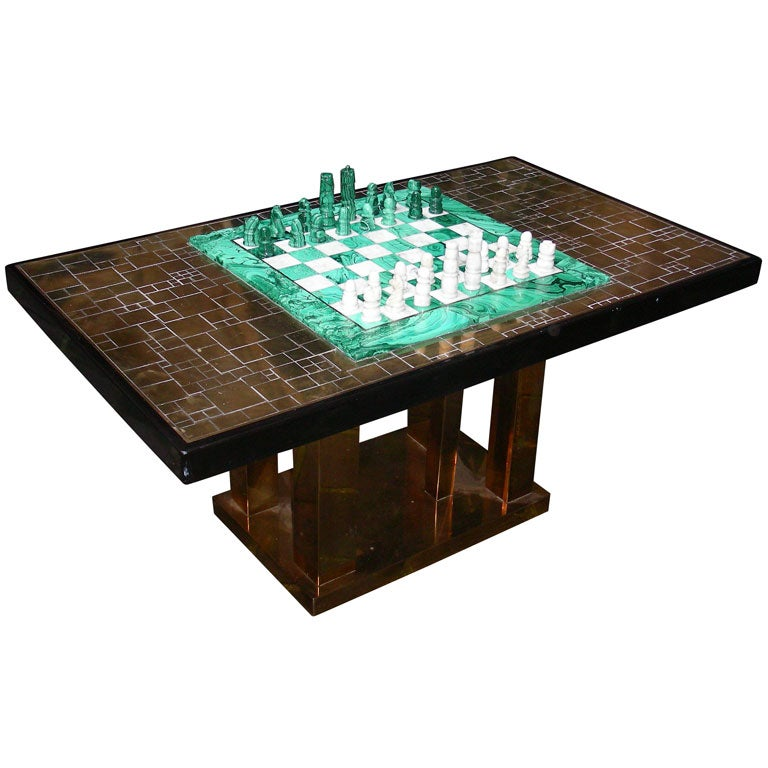 1970s chess board coffee table signed by georges mathias at 1stdibs
