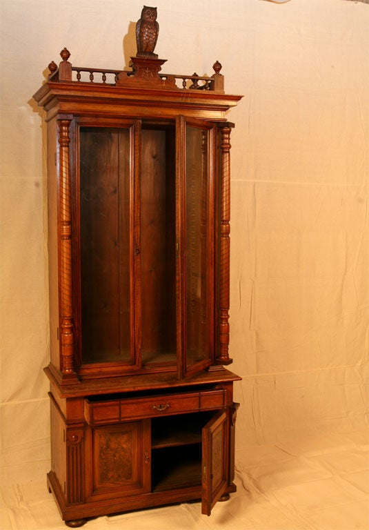 tall two door bookcase for sale at 1stdibs. Black Bedroom Furniture Sets. Home Design Ideas