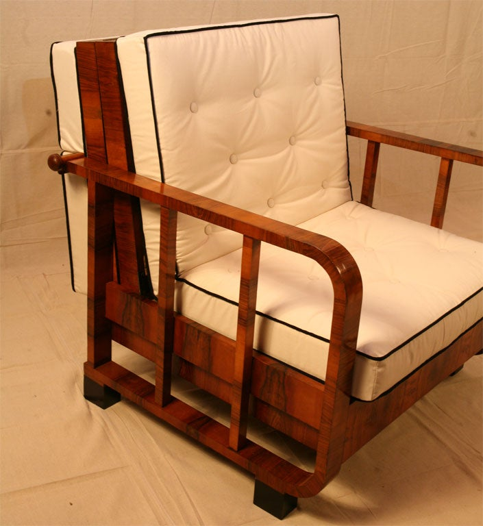 Austrian Continental Metamorphic Chair/Day Bed For Sale