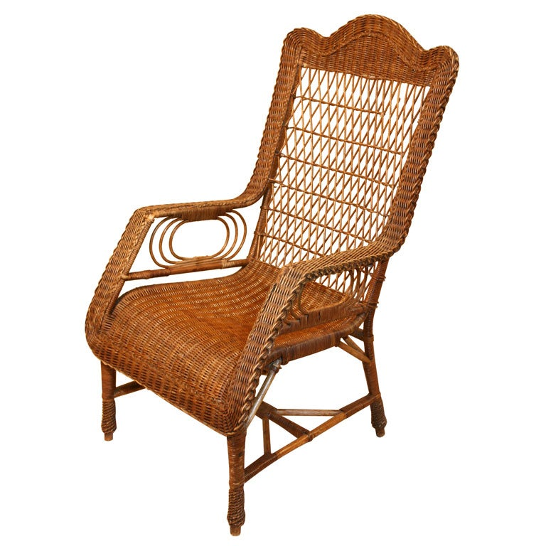 Natural Wicker Chair For Sale at 1stdibs
