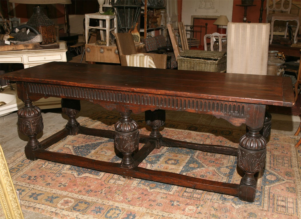 18th C. English Jacobean Library Table 2