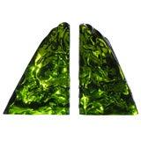 Luciano Gaspari  green murano glass bookends by Saviati