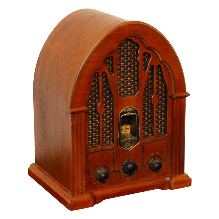 1950 S Ge Electric Am Fm Radio In Wood Box Frame At 1stdibs