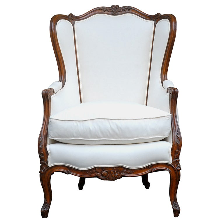 Pair of hans wegner lounge chairs at 1stdibs - 19th Century French Wing Chair At 1stdibs