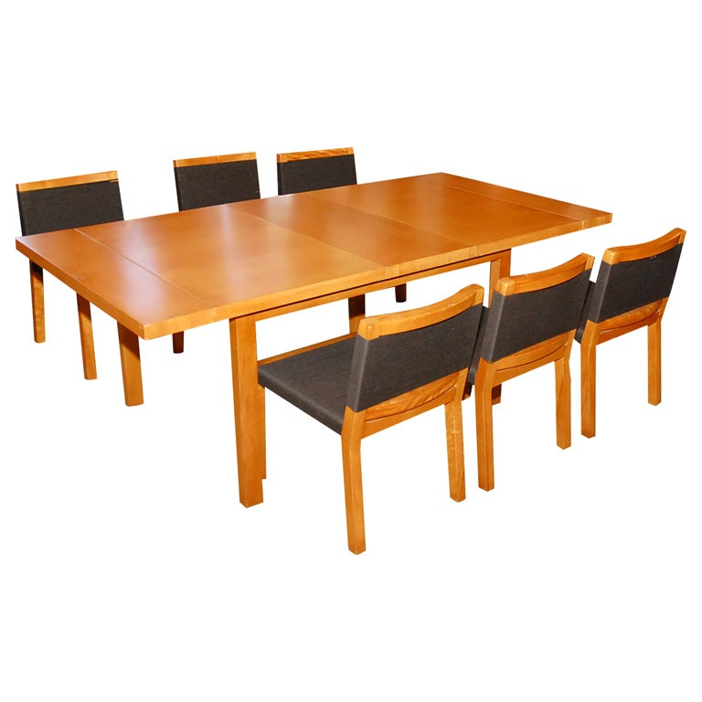 Van Keppel Green Dining Table and Chairs For Sale at 1stdibs