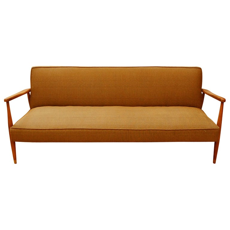 danish modern style sofa at 1stdibs. Black Bedroom Furniture Sets. Home Design Ideas