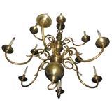 12 Light Dutch Baroque chandelier