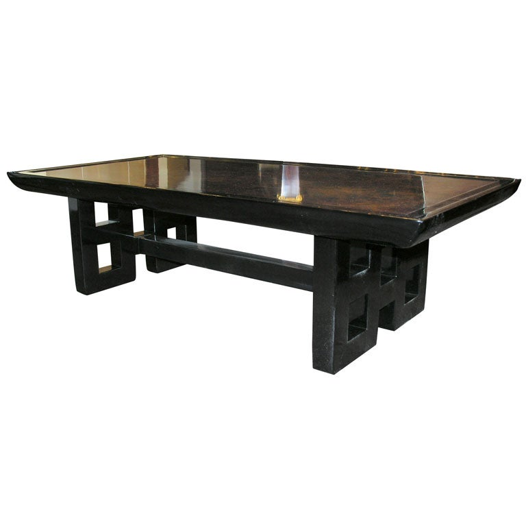 Asian Inspired Cocktail Table By Kittinger With Tortoise Finish At 1stdibs