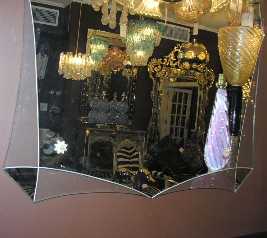 Custom Modern Deco style mirror. Customization is available in different sizes.