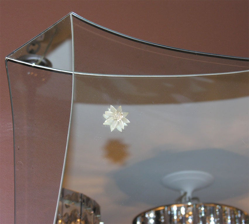 American Modern Deco Style Mirror For Sale
