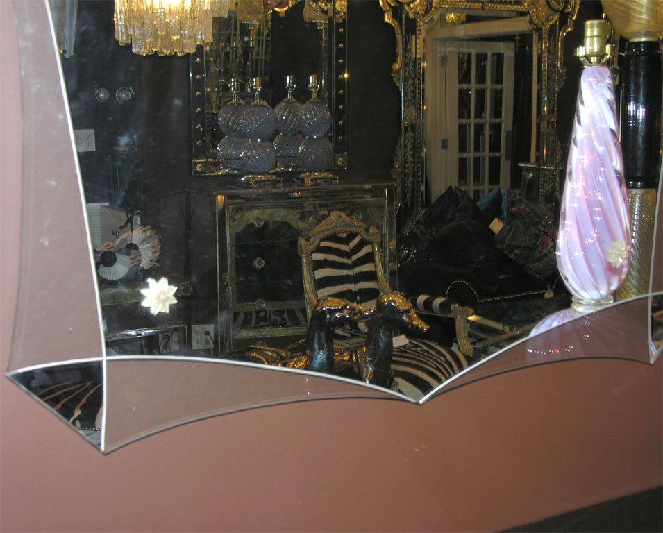 Art Deco Modern Deco Style Mirror For Sale