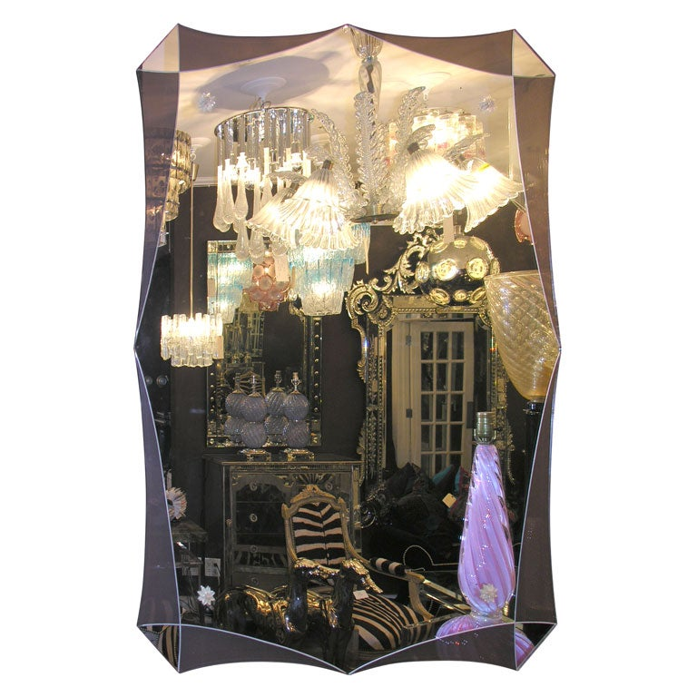Modern Deco Style Mirror For Sale