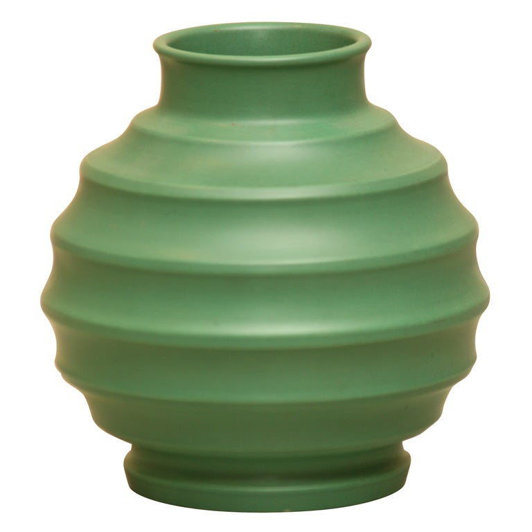Wedgwood Green Glaze Vase By Keith Murray At 1stdibs