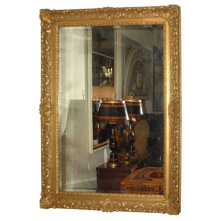 Large Gilt Framed Mirror at 1stdibs