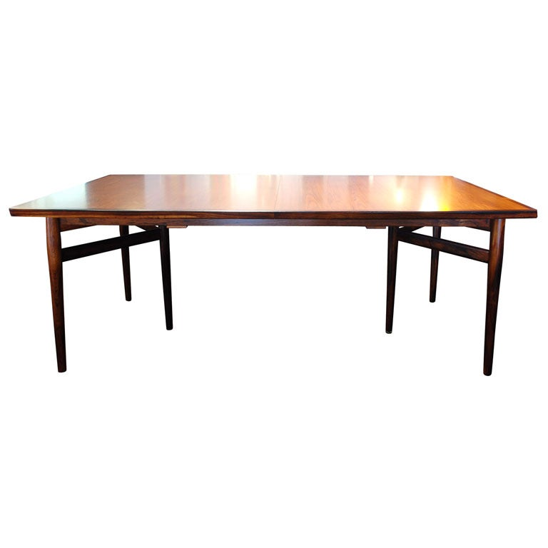 Rosewood dining room table by arne vodder at 1stdibs - Rosewood dining room furniture ...
