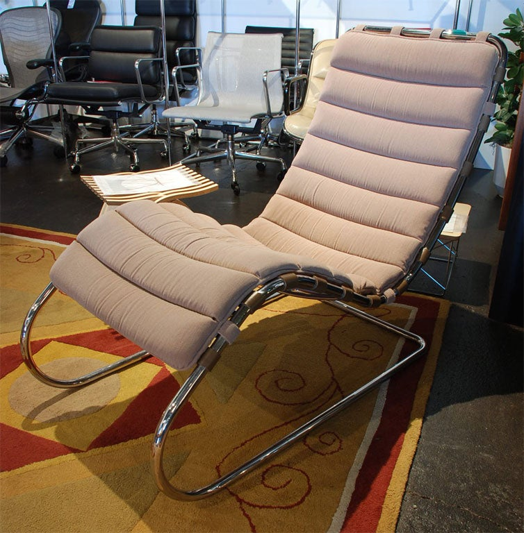 Chaise lounge by mies van der rohe at 1stdibs - Mies van der rohe chaise ...