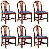 Set of 6 Hepplewhite Mahogany Dining Chairs, c.1790