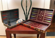 Vintage Backgammon Leather Book Board thumbnail 4