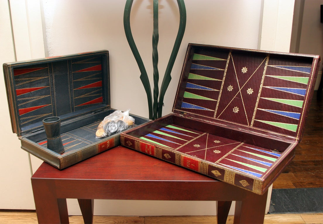Vintage Backgammon Leather Book Board image 4