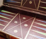 Vintage Backgammon Leather Book Board thumbnail 5