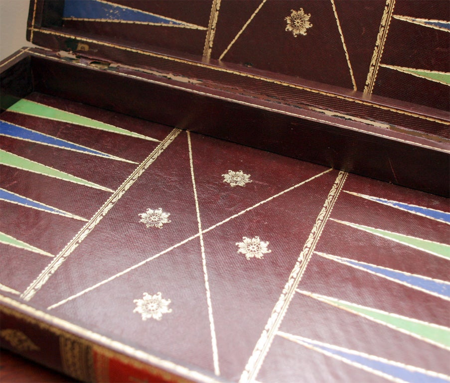 Vintage Backgammon Leather Book Board image 5