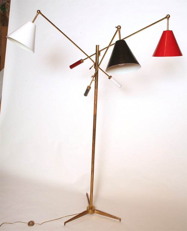 Italian Early Arredoluce Triennale Floor Lamp For Sale