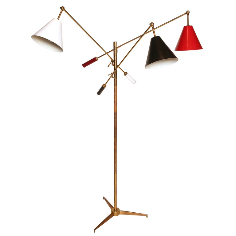 Early Arredoluce Triennale Floor Lamp For Sale