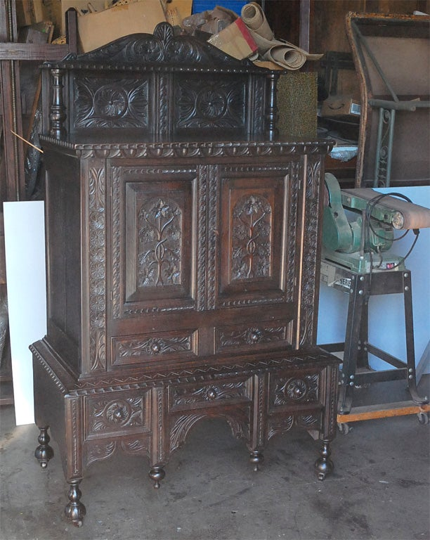 Cabinet with two doors over drawers for sale at 1stdibs for Kitchen drawers for sale