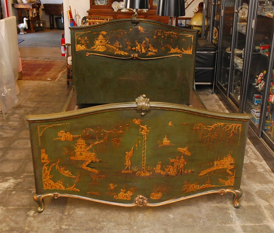 French Chinoiserie Bed For Sale