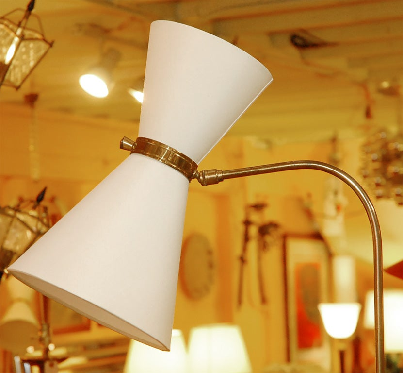 Mid-Century Modern 1950s, French Whimsical Floor Lamp For Sale
