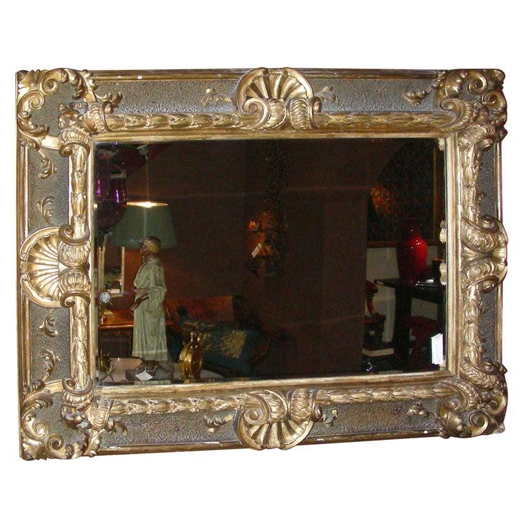 Italian baroque carved mirror at 1stdibs for Italian baroque mirror