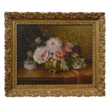 19th Century French Oil on Canvas Framed Still Life Bouvagne