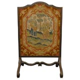 18th Century French Needlepoint Firescreen with Allegories of the Seasons