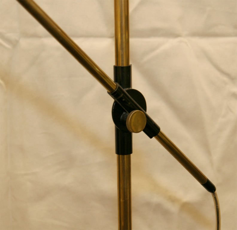 Oscar Torlasco for Lumi  Floor Lamp Articulated Mid Century Modern 1950's In Good Condition For Sale In New York, NY