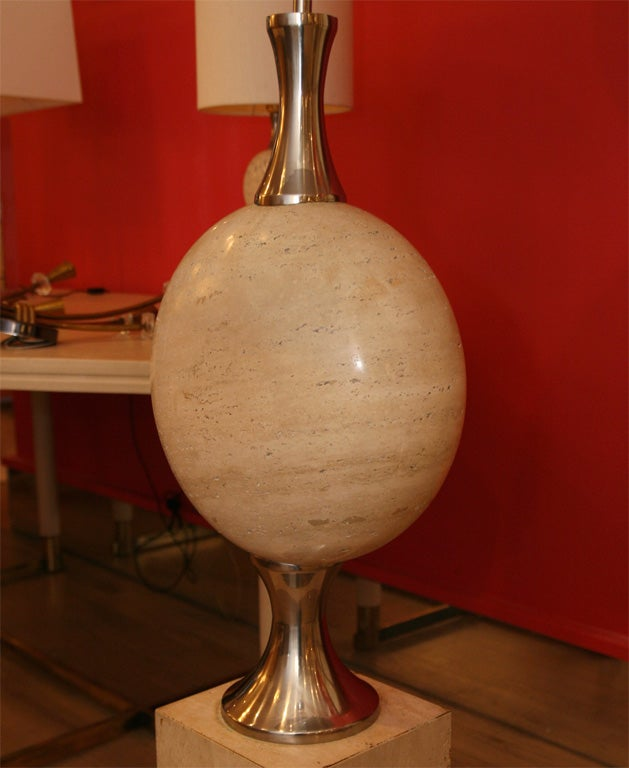 Mid-Century Modern Philippe Barbier Floor Lamp For Sale