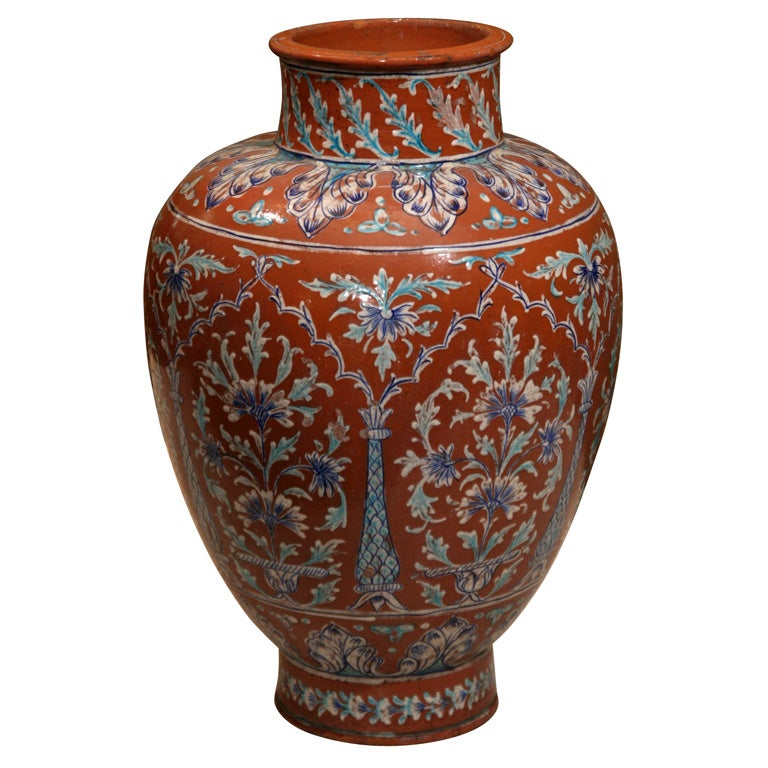 English arts and crafts indian inspired raj vase at 1stdibs for Indian arts and crafts