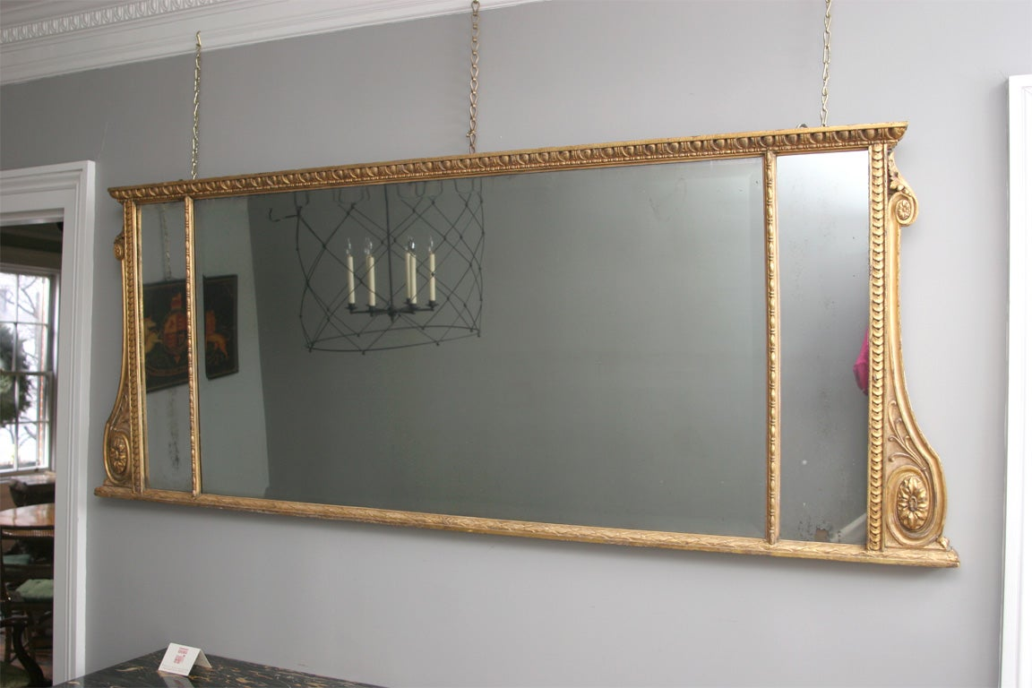 Very fine adam period carved and giltwood overmantle for Overmantle mirror