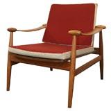 Finn Juhl Teak Spade Lounge Chair