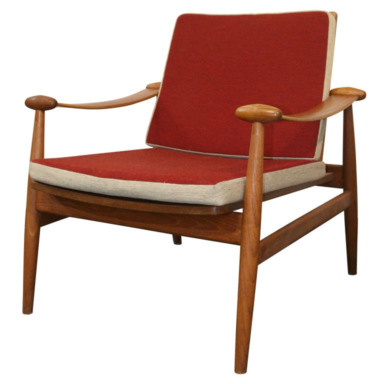 Finn Juhl Teak Spade Lounge Chair At 1stdibs