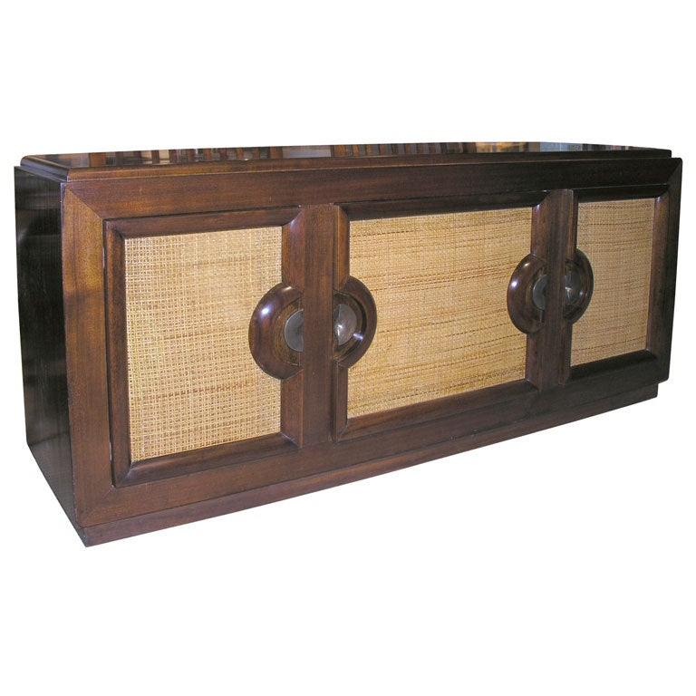 Walnut And Cane Buffet By Paul Laszlo At 1stdibs