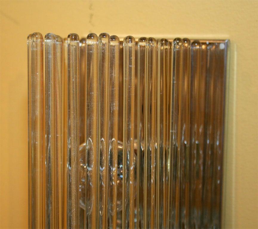 Lightolier Glass Rod Sconces at 1stdibs