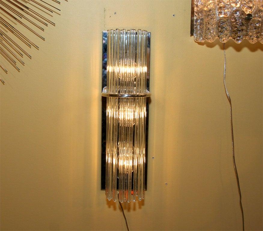 Glass Rod Wall Sconces : Lightolier Glass Rod Sconces at 1stdibs