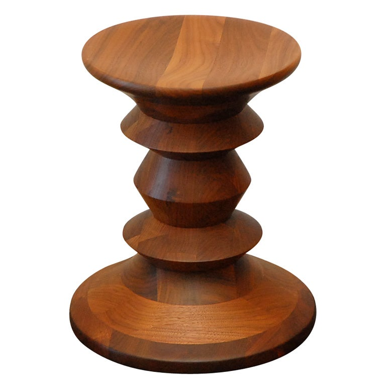 Walnut Stool By Charles And Ray Eames For Hermann Miller