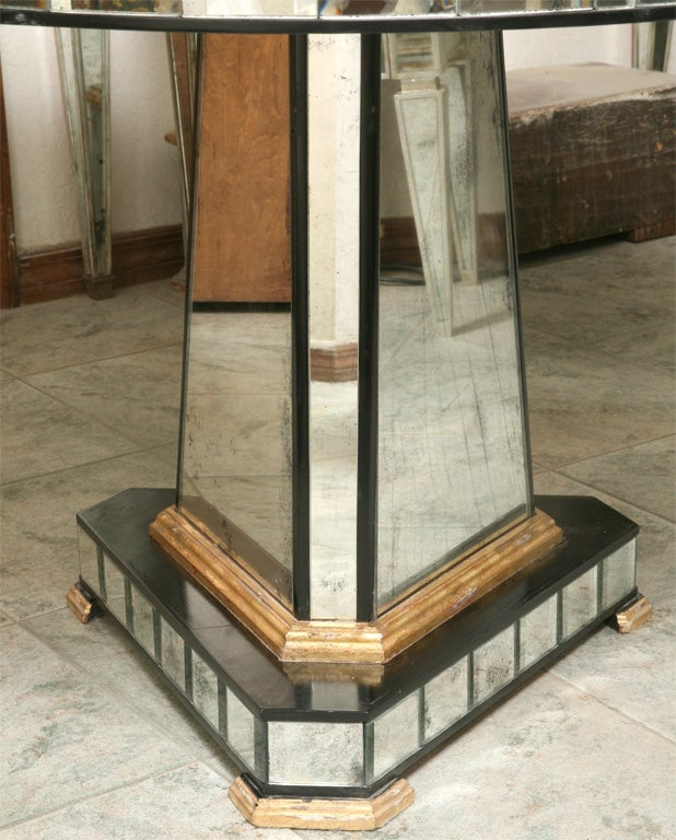 Contemporary Superb Mirrored Centre Table Giltwood Edge with Black Trim For Sale