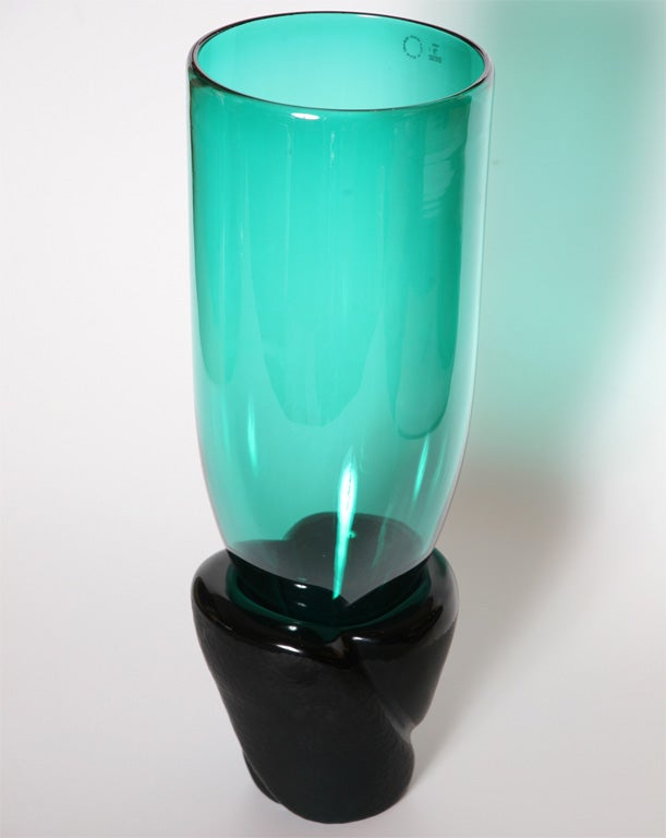 "Monumental Venini Murano Glass Vessel ""Munchen"" Laura Diaz de Santillana 2"